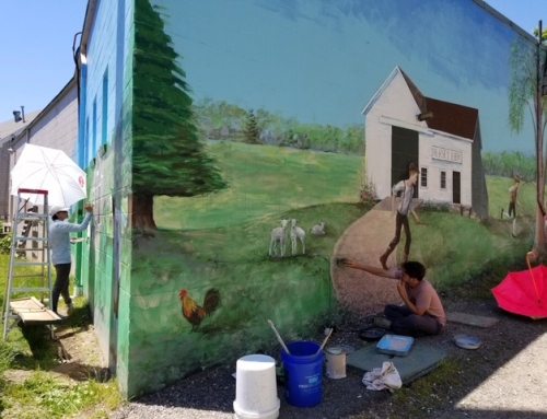 Colorful New Mural Nearing Completion